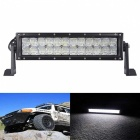 120W 24-LED White 6000K 10200lm Off-Road UTV Car Lamp Floodlight Work Light Bar w/ Lens - Black