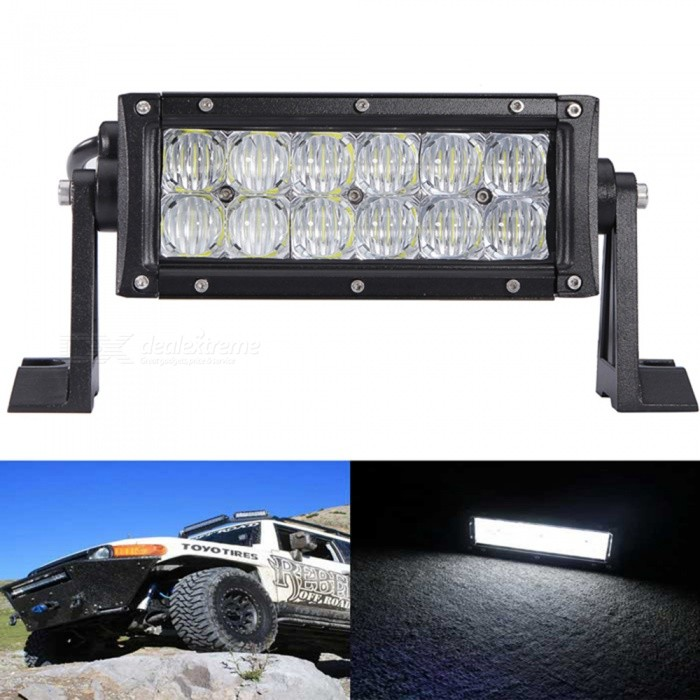 60W 12-LED White Light 6000lm 4WD UTV Car Lamp Spotlight Work Light