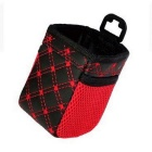ZIQIAO CZ-05 Multifunctional Car Storage Bag Mobile Phone Pouch - Black + Red