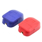 Brass+ABS Quick Release Battery Terminal Clamp for Car / Boat / Motorhome - Red + Deep Blue (Pair)