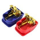 Brass + ABS Quick Release Battery Terminal Clamp for Auto / vene / Asuntoauto - Red + Deep Blue (Pair)