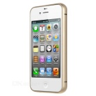 Durable Protective Aluminum Alloy Bumper Frame Case for IPHONE 4 / 4S - Golden