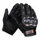 SW5013 Outdoor Motorcycle Riding Cycling Protective Full-Finger Gloves - Black (L / Pair)