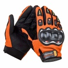 SW5015 Outdoor Motorcycle Riding Cycling Protective Full-Finger Gloves - Orange + Black (L / Pair)