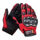 SW5014 Outdoor Motorcycle Riding Cycling Protective Full-Finger Gloves - Red + Black (L / Pair)
