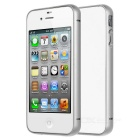 Durable Protective Aluminum Alloy Bumper Frame Case for IPHONE 4 / 4S - Silver