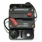 IZTOSS F433-100A 100A DC48V Waterproof Manual Reset Car Boat Circuit Breaker w/ Switch - Black