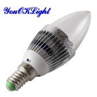 YouOKLight YK0322 E14 3W RGB Light Remote Control Candle Bulb - Silver White (220~240V)