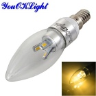YouOKLight Dimmable E14 3W 6-5630 LED Candle Bulb Warm White