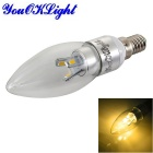YouOKLight Dimmable E14 3W 6-5630 LED Candle Bulb Warm White - Silver (100-120V)