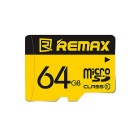 REMAX Class10 Micro SD / TF Memory Card - Yellow (64 GB)