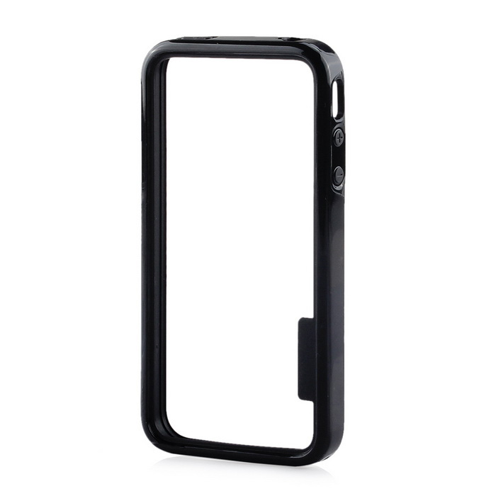 Stylish Protective TPU Bumper Frame for IPHONE 4 / 4S - Black
