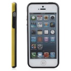 Protective TPU Bumper Frame for IPHONE 5 / 5S / SE - Black + Yellow