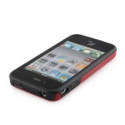 Stylish Protective TPU Bumper Frame for IPHONE 4 / 4S - Red + Black
