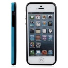 Protective TPU Bumper Frame for IPHONE 5 / 5S / SE - Black + Blue