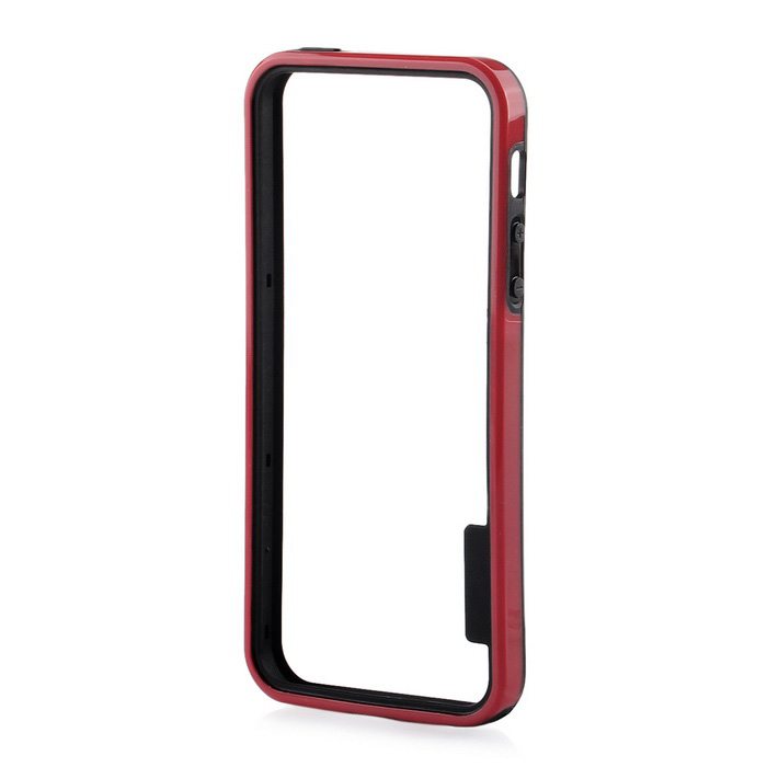 Protective TPU Bumper Frame for IPHONE 5 / 5S / SE - Black + Red