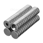D12*4mm Round NdFeB Magnets Set - Silver (60PCS)