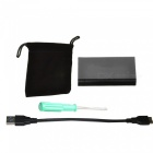 Cwxuan Mini PCI-E mSATA Solid State Disk SSD to USB 3.0 Hard Disk Enclosure - Black