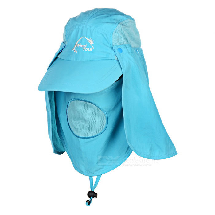 Wind Tour Outdoor 360 Degree Protection Quick-drying Breathable Anti-UV  Sunhat - Sky Blue - Free Shipping - DealExtreme d7847209073b