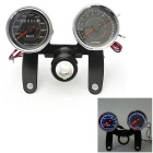 IZTOSS Universal LED Motorcycle Tachometer Odometer Speedometer Gauge w/ Bracket, Backlight - Black
