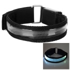 Outdoor Sports White Light 3-Mode LED Flashing Safety Armband - Black