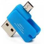 2-In-1 USB 2.0 to Micro USB OTG Adapter + Micro SD TF Card Reader