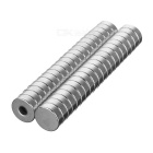 D12*4mm Round NdFeB Magnets Set - Silver (40PCS)