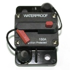 IZTOSS 150A DC48V Waterproof Manual Reset Car Boat Circuit Breaker w/ Switch - Black