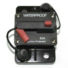 IZTOSS 50A DC48V Waterproof Manual Reset Car Boat Circuit Breaker w/ Switch - Black