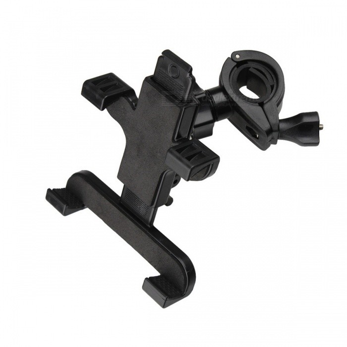 "ZIQIAO Universal Motorcycle Bicycle Holder for IPAD Mini / 5""~7"" Tablet PC - Black"