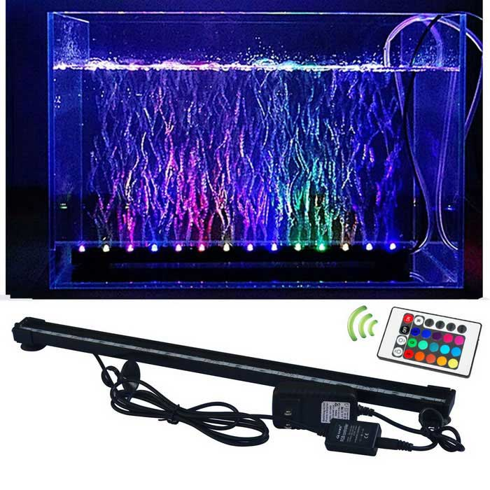 Jiawen rgb fish tank plant aquarium led light underwater for Black light for fish tank