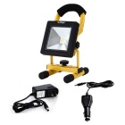 LED Flood Light ricaricabile IP 30W 2500lm 6000K - Black + Yellow (connettori americani)
