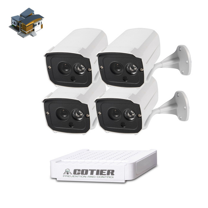 Cotier N4B7-Mini / L 4 CH NVR HD 960P Play ja Plug IP-kamera NVR Kits