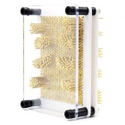Classic 3D Pin Point Needle Impression Sculpture Art Board Frame Toy - Golden