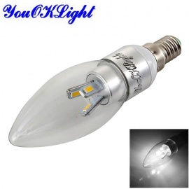 YouOKLight Dimmable E14 3W LED Candle Bulb Cold White (AC 220~240V)