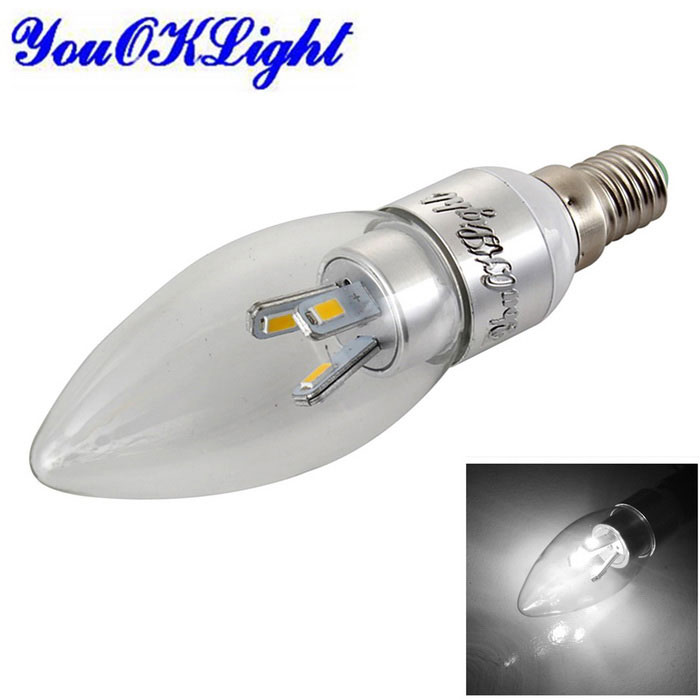 Youoklight dimmable E14 3W LED ampoule bougie blanc froid (110 ~ 120V)