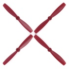 OCDAY 6045 Bull Nose Flat Strengthen Propellers for H250 - Red (2 Pairs)