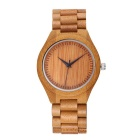 High-end Natural Bamboo Wooden Quartz Wrist Watch - Bamboo Color (1*3S77)