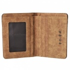 Stylish Canvas Fold-up Wallet for Men - Blue + Coffee