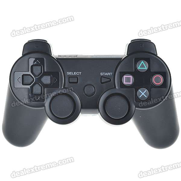 USB Rechargeable Dualshock Wireless Controller for PS3 - Black