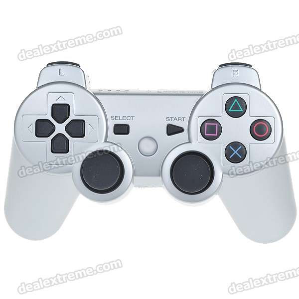 USB Rechargeable Dualshock Wireless Controller for PS3 - Silver