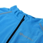 NUCKILY MH008 Quick-drying Breathable Reflective Long-sleeve Cycling Jersey - Blue (XL)