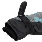 Outdoor Waterproof Thickened Warm Anti-slip Full-finger Gloves - Black + Multicolor (M / Pair)