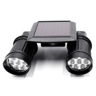 14-LED White Light 6500K 130lm PIR Human Body Induction Motion Detection Solar Dual Lamp - Black