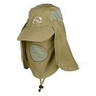 Wind Tour Outdoor 360 Degree Protection Quick-drying Breathable Anti-UV Sunhat - Khaki
