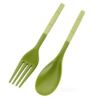 NatureHike Portable Environmental Protection Folding Fork / Spoon / Chopsticks Tableware Kit - Green