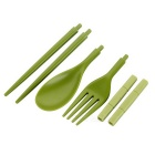 NatureHike  Folding Fork / Spoon / Chopsticks Tableware Kit - Green