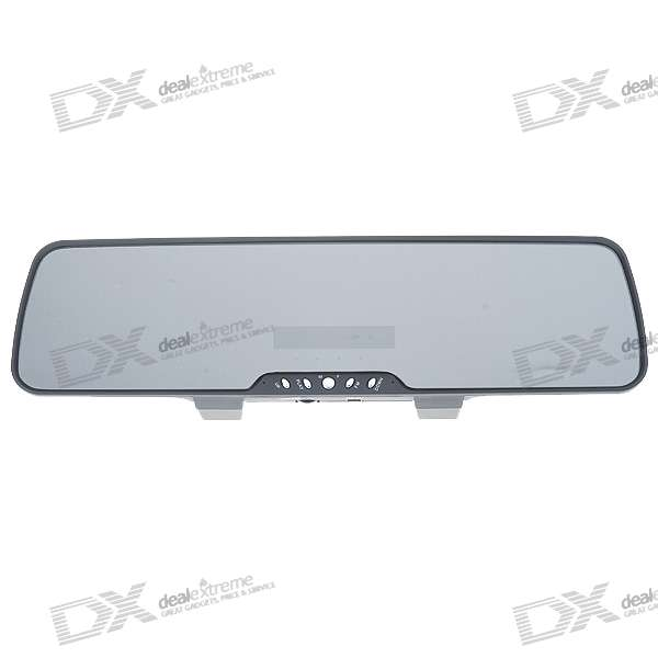 Espelho retrovisor recarregável Bluetooth 2.1 Handsfree Car Kit com MP3 Player + Transmissor FM
