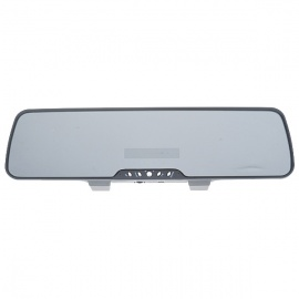 Rechargeable Rearview Mirror Bluetooth 2.1 Handsfree Car Kit with MP3 Player + FM Transmitter