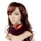 SAHOO Windproof Warm Fleece Head Scarf / Face Mask - Wine Red